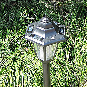 Solar Powered Garden Lawn Path Lamps (2-Pack)