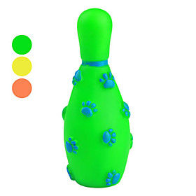 Squeaking Rubber Bowling Toy for Dogs (Random Color)