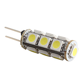 G4 13x5050 SMD White Light LEB Bulb for Car Lamps (DC 12V)