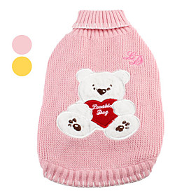 Lovely Bear Pattern Warm Sweater for Dogs (XS-XL, Assorted Colors)