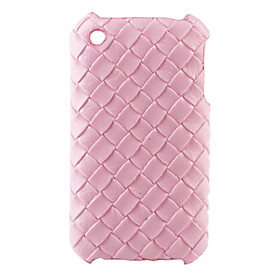 Knit Argyle Pattern Hard Case for iPhone 3G and 3GS (Pink)