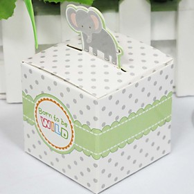Lovely Elephant Baby Shower Favor Box (Set of 12)