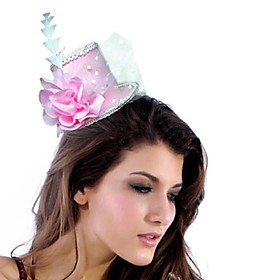 Elegant PVC/Chiffon With Feather/Flower Women's Fascinators