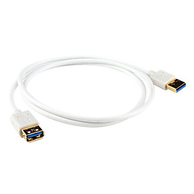 USB 3.0 AM to AF Cable (1 m, White)