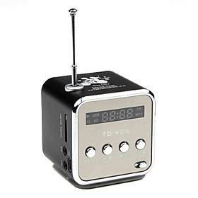 LED Screen Stylish Multi-functional Mini Speaker with FM Radio