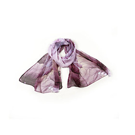 Elegant Silk With Pattern Daily Wear/Honeymoon Scarf/Shawl