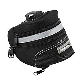 ROSWHEEL Bicycle Removable Tail Saddle Bag (Black)