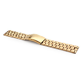 Unisex Stainless Steel Watch Band 22MM (Gold)