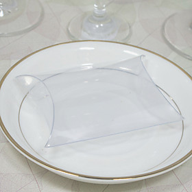 Transparent Pillow Shaped Favor Box (Set of 12)