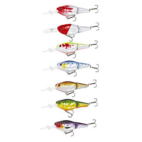 Hard Fishing Bait Minnow Baits 75MM 17.5G (7 Pcs/Pack)