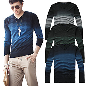 Elegant Man Slim V Collar Knit Sweater