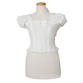 Puff Sleeve White Cotton Casual Lolita Blouse
