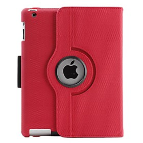 360 Degree Rotate PU Leather Case with Stand for the New iPad (Assorted Colors)