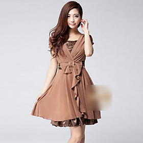 Summer Chiffon Short Sleeve Dress