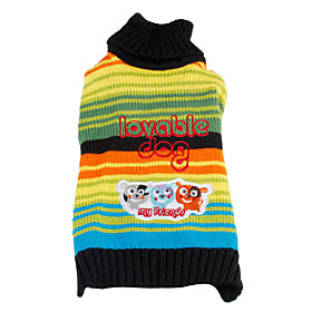 Dog Pattern Rainbow Sweater for Dogs (XS-XL)