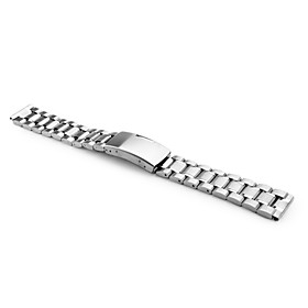 Unisex Stainless Steel Watch Band 16MM (Silver)