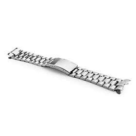 Unisex Stainless Steel Watch Band 24MM (Silver)