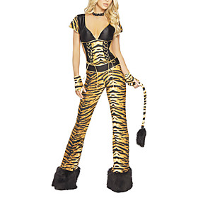 Adult Womens Sexy Tiger Halloween Costume