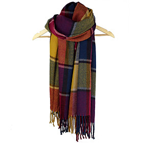 Beautiful Cotton With Plaid Daily Wear Scarf/ Shawl