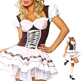 Sexy Women's Beer Girl Halloween Costume(1 Pieces)