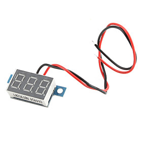 3.3V~30V Electric Motorized Car Voltage Display Board (Black)