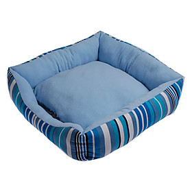 England Style Stripe Pattern Folding Dog Bed (Assorted Color,50 x 50cm)