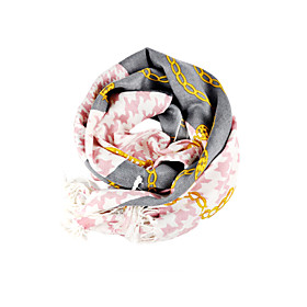 Fashion 100% Cotton With Pattern Daily/Office Wear Scarf/Shawl (More Colors)