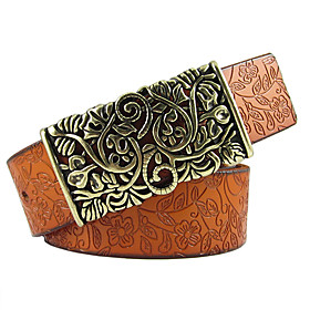 Lady's Leather Buckle Belt