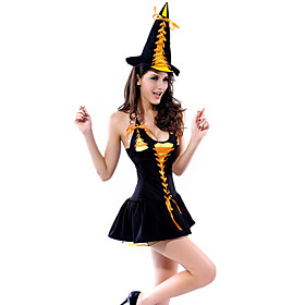 Womens Sexy Cute Candy  Witch Adult Halloween Costume