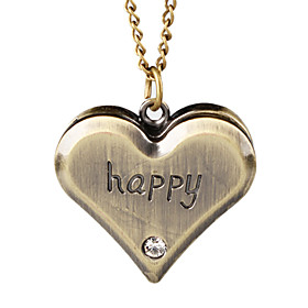 Lovely Alloy Heart Design Necklace Watch