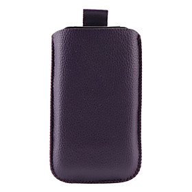 Litchi Pattern PU Leather Pouch for iPhone 3G and 3GS (Purple)