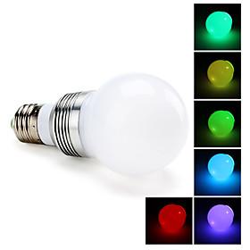 E27 3W 270LM RGB Light LED Ball Bulb (85-265V)