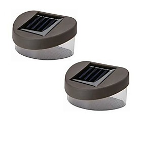 Solar White Light Deck And Fence Wall Mount Lamp (2-Pack)