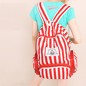 Leisure Stripe Student Backpack(28cm 15cm 44cm)