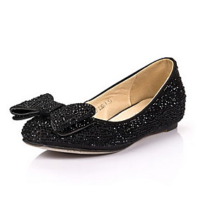 Elegant Satin Flat Heel Flats/Loafers With Bowknot Wedding/Party Shoes (More Colors)