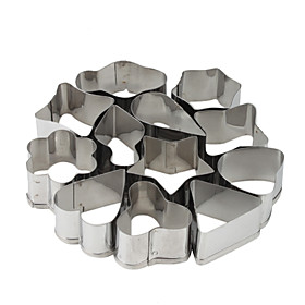 Stainless Steel Geometrical Shaped Cookie Cutters Set (12-Pack)