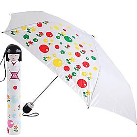 Kimono Doll Style Fruit Painting Folding Umbrella (White)