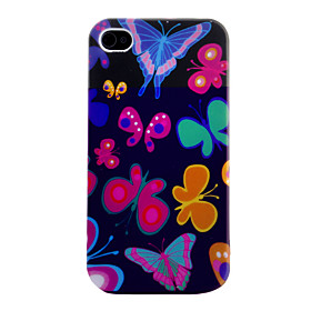 Butterfly Pattern Soft Case for iPhone 4 and 4S