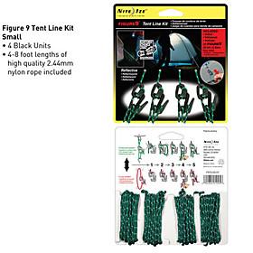 Nite Ize Small Size 4-Pcs Tent Line Kit (2.44mm Nylon Rope Inclued)