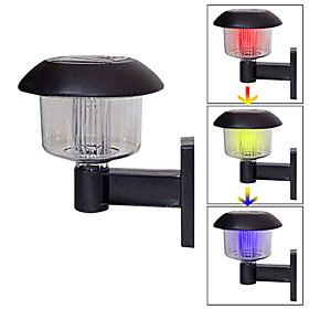 Solar Color Changing Deck And Fence Wall Mount Lamps