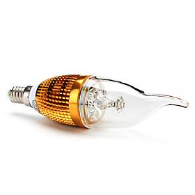 E14 4x1W 360LM 6000-6500K White Light Candle Lamp LED Bulb (85-265V)