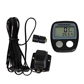 ROSWHEEL LCD Waterproof 14 Functions Bike Computer Bicycle Speedometer (Black)