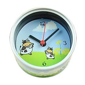 Creative Can Design Cows Pattern Desktop Analog Clock (1xAA)
