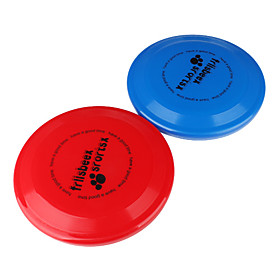 Blue and Red Plastic Frisbee Pair