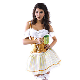 Sexy Adult Halloween Oktoberfest Beer Girl Maiden Costume(1 Pieces)