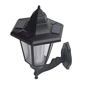 Solar Powered White Light Wall Mounted Lamp