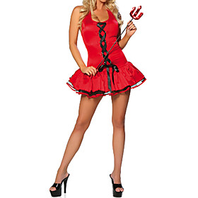 Sexy Women's Red Devil Halloween Costume(3 Pieces)