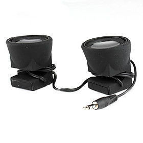 Portable 3.5mm Stereo Dual Speaker for iPhone iPad Cellphones Tablets