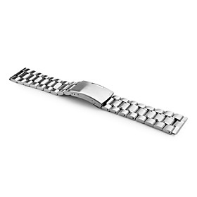 Unisex Stainless Steel Watch Band 22MM (Silver)