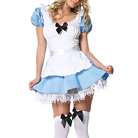 Sexy Lingerie Babydoll Lolita French Maid Fancy Dress Halloween Costume(2 Pieces)